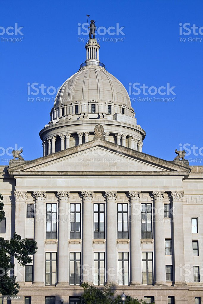Oklahoma - State Capitol royalty-free stock photo
