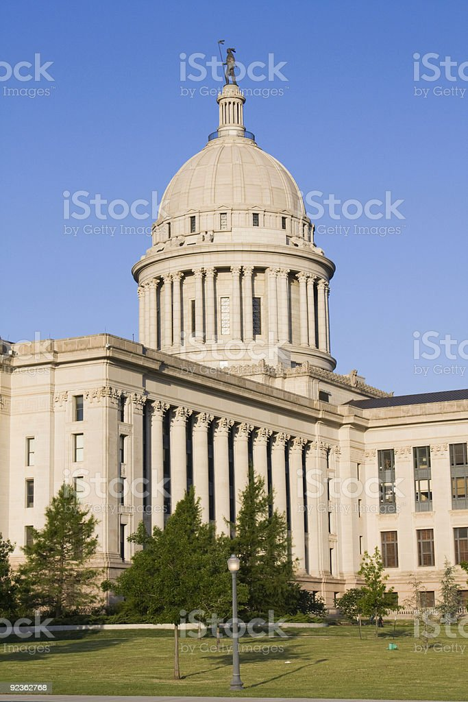 Oklahoma - State Capitol royalty-free stock photo