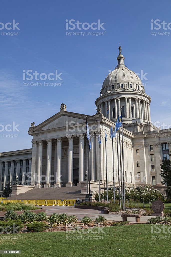 Oklahoma State House and Capitol Building royalty-free stock photo