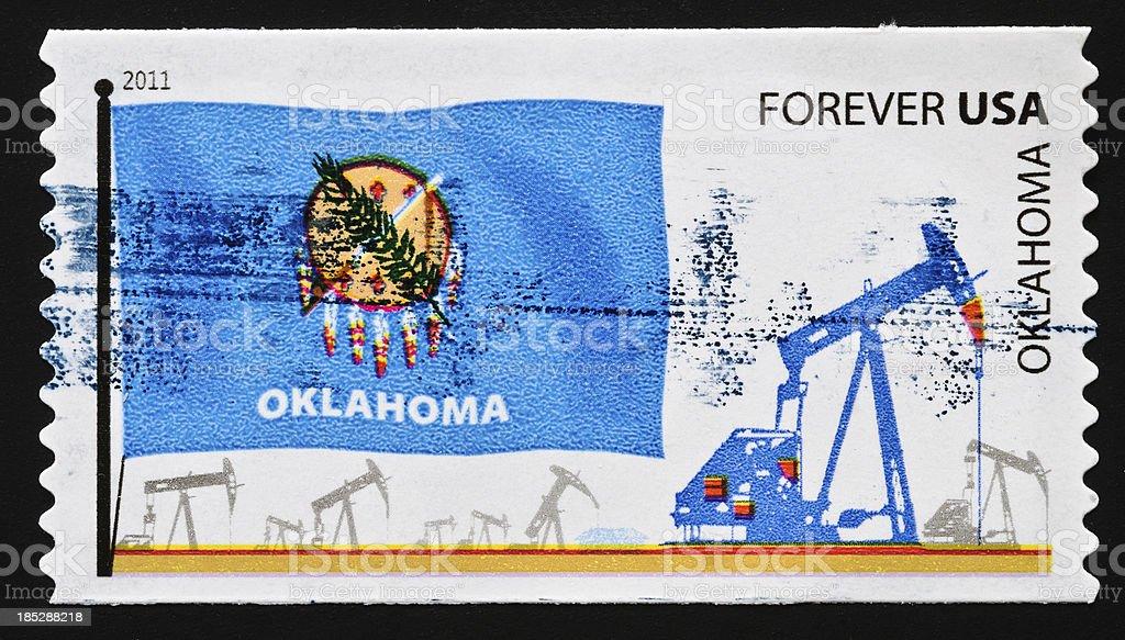 Oklahoma State Stamp stock photo