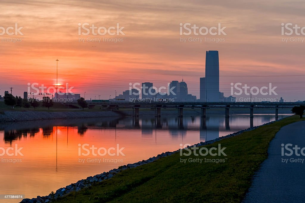 Oklahoma sunrise stock photo