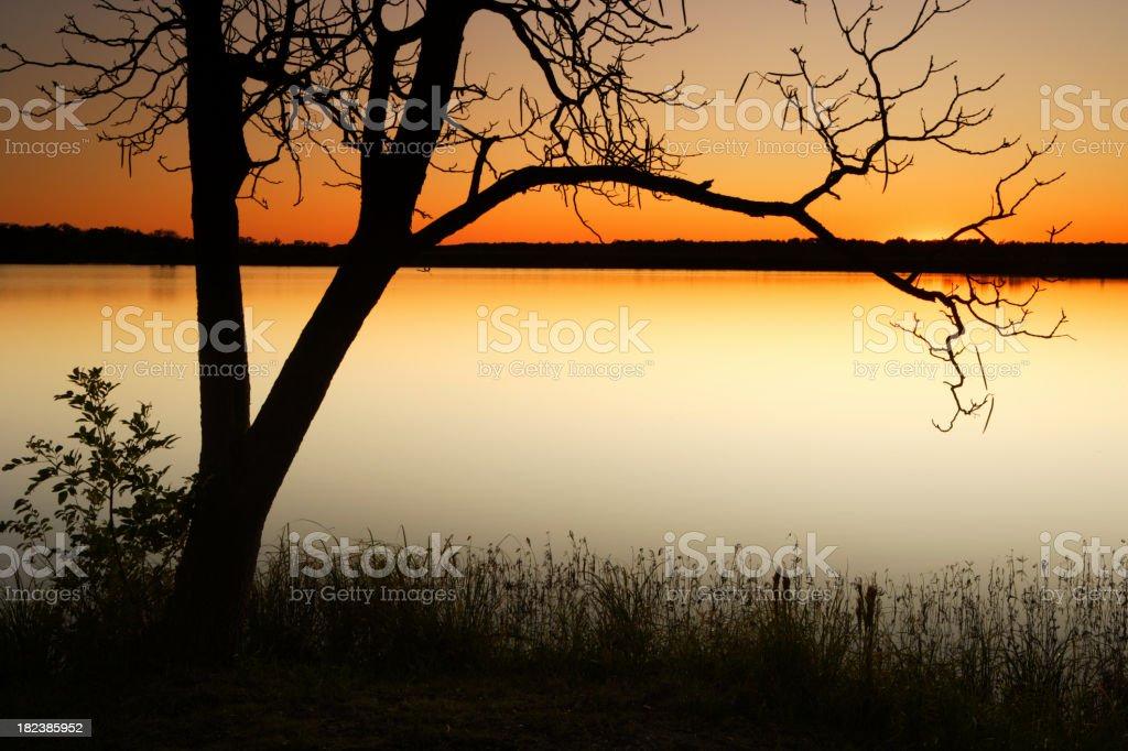 Oklahoma Sunset royalty-free stock photo
