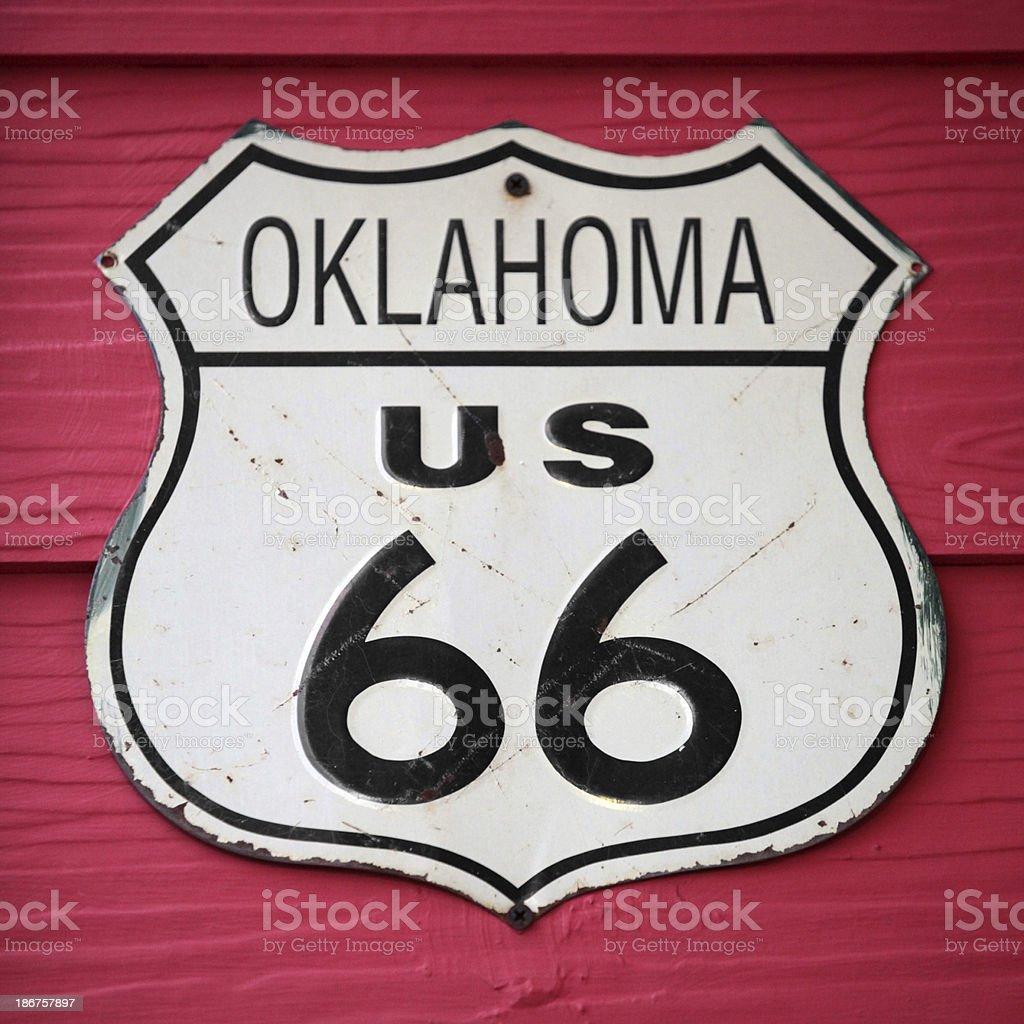 Oklahoma US 66 royalty-free stock photo