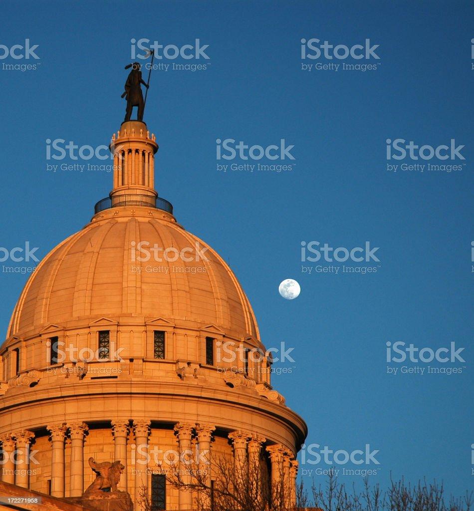Oklahoma's Capital Dome stock photo