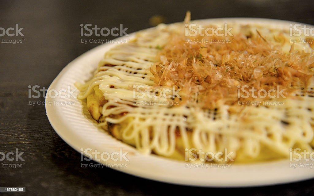 Okonomiyaki in the plate3 royalty-free stock photo