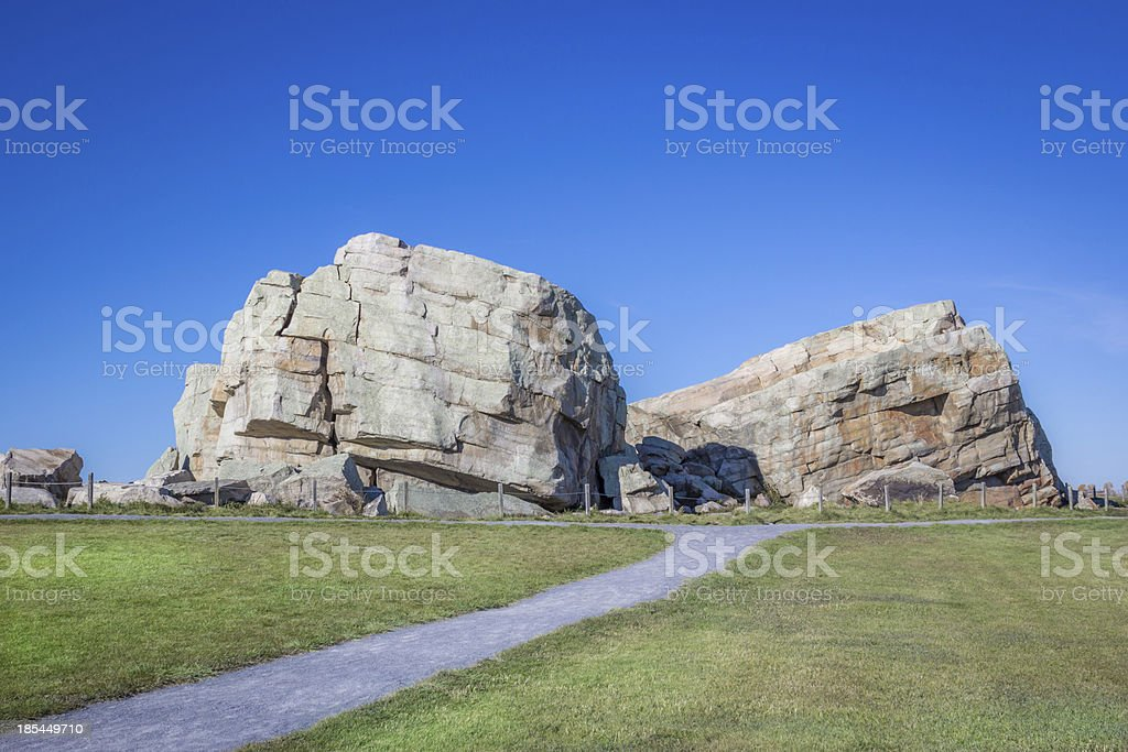Okotoks Erratic - The Big Rock stock photo