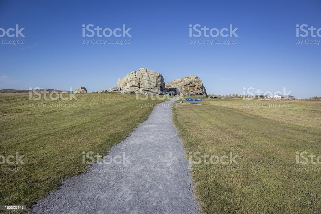 Okotoks Erratic - The Big Rock stock photo