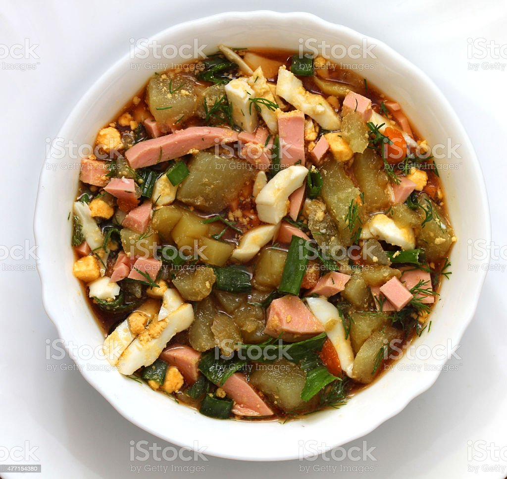 Okroshka stock photo