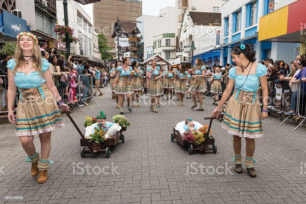 Oktoberfest 2015 - Blumenau - Brazil stock photo