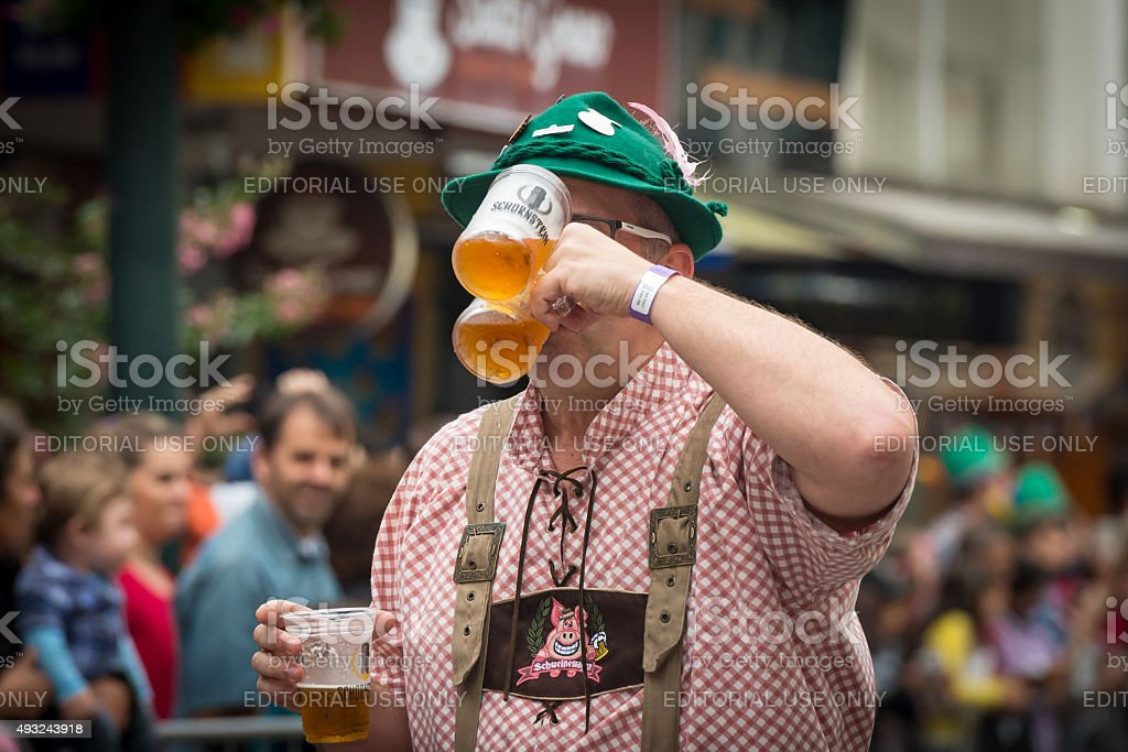Oktoberfest 2015 - Blumenau - Brazil stock photo
