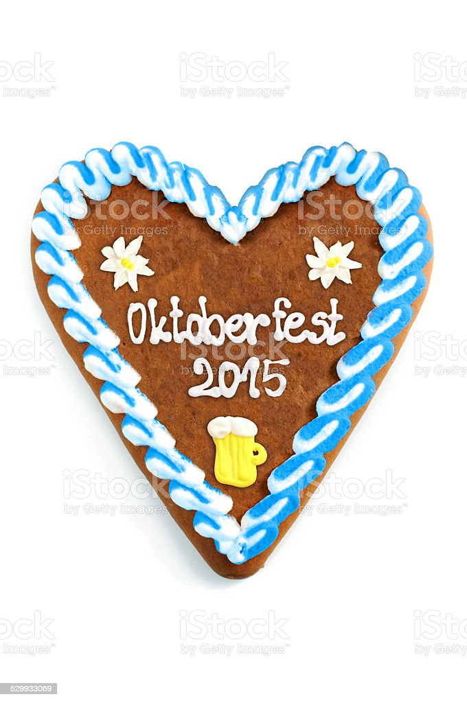 Oktoberfest 2015 Gingerbread stock photo