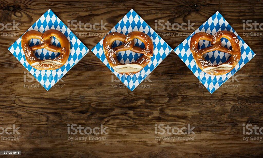 Oktoberfest Background – Pretzel stock photo