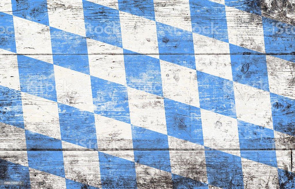 Oktoberfest background with blue and white rhombus pattern stock photo
