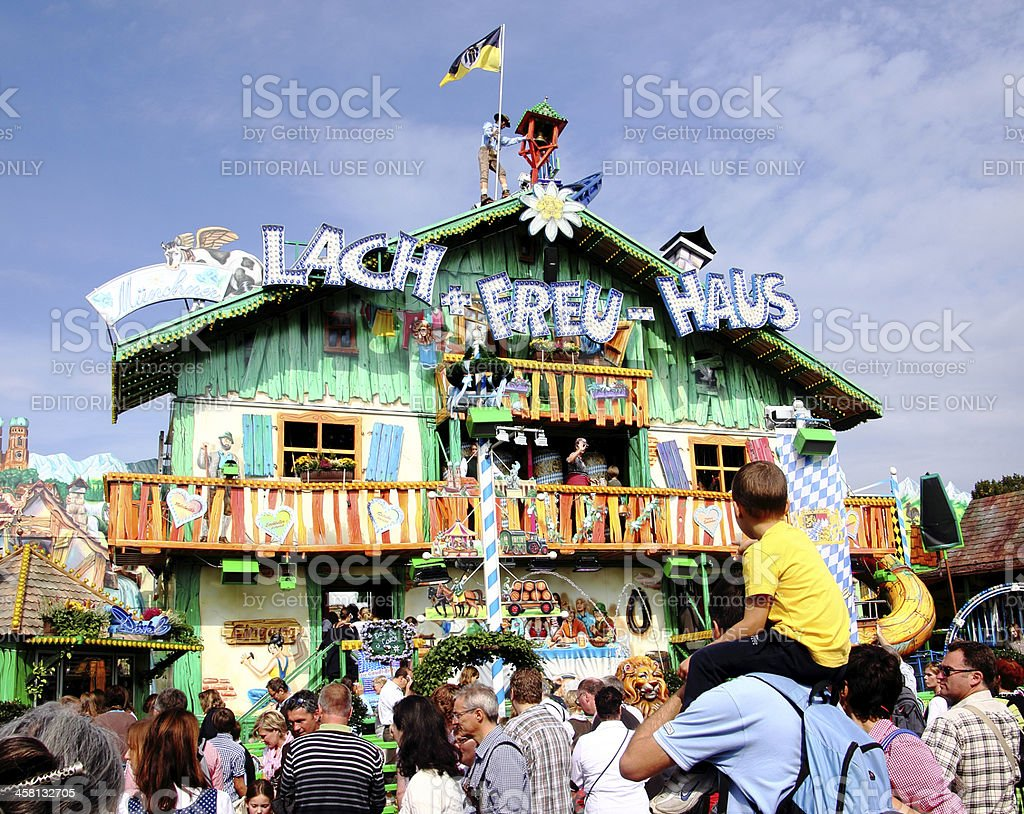 oktoberfest, fairground attraction stock photo