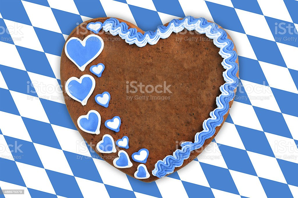 Oktoberfest Gingerbread copy space royalty-free stock photo