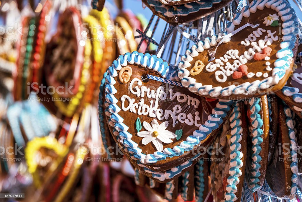 Oktoberfest Hearts stock photo