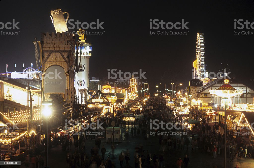 Oktoberfest, in Munich stock photo