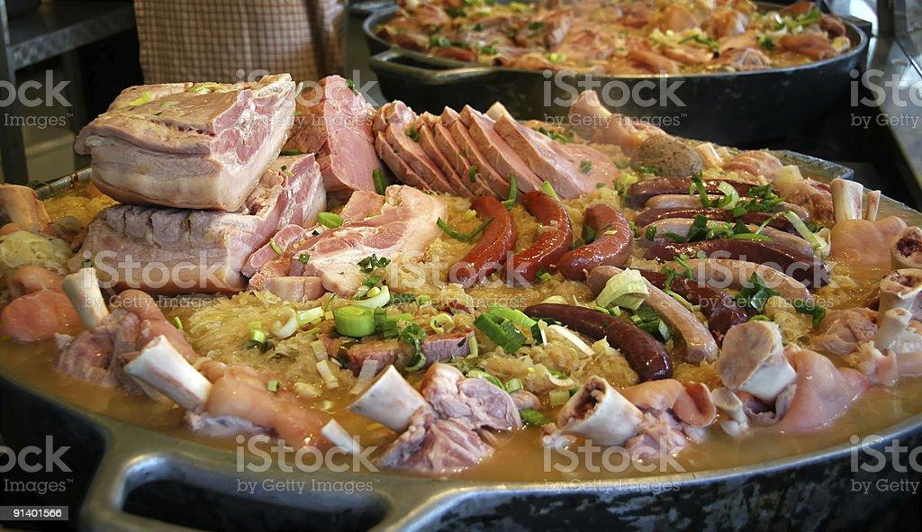 Oktoberfest Meat Pot stock photo