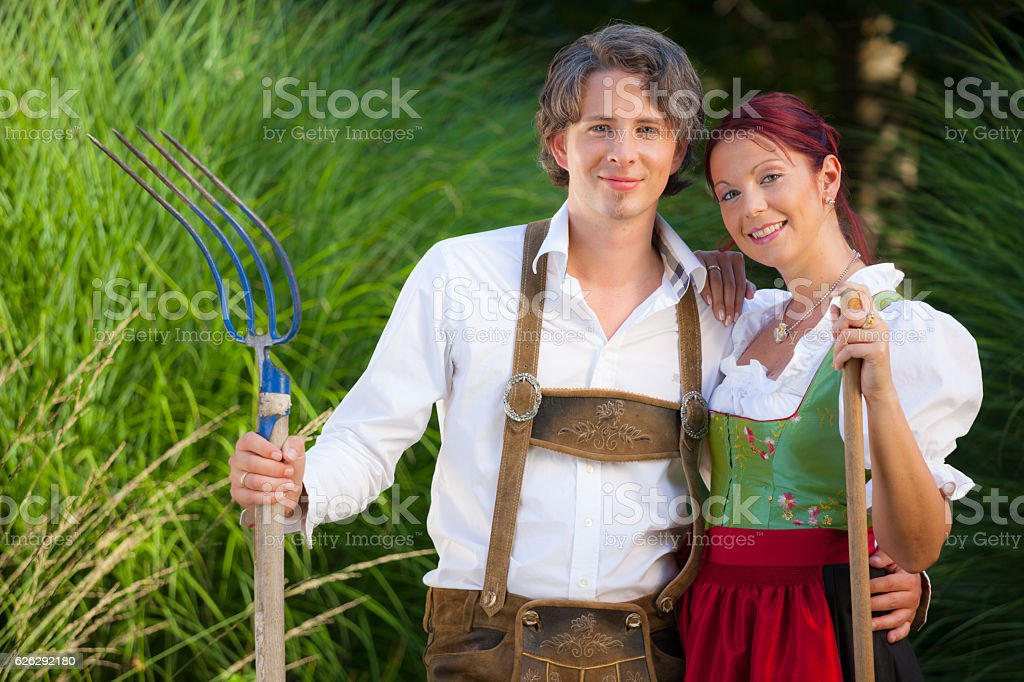 oktoberfest outfit closeup stock photo