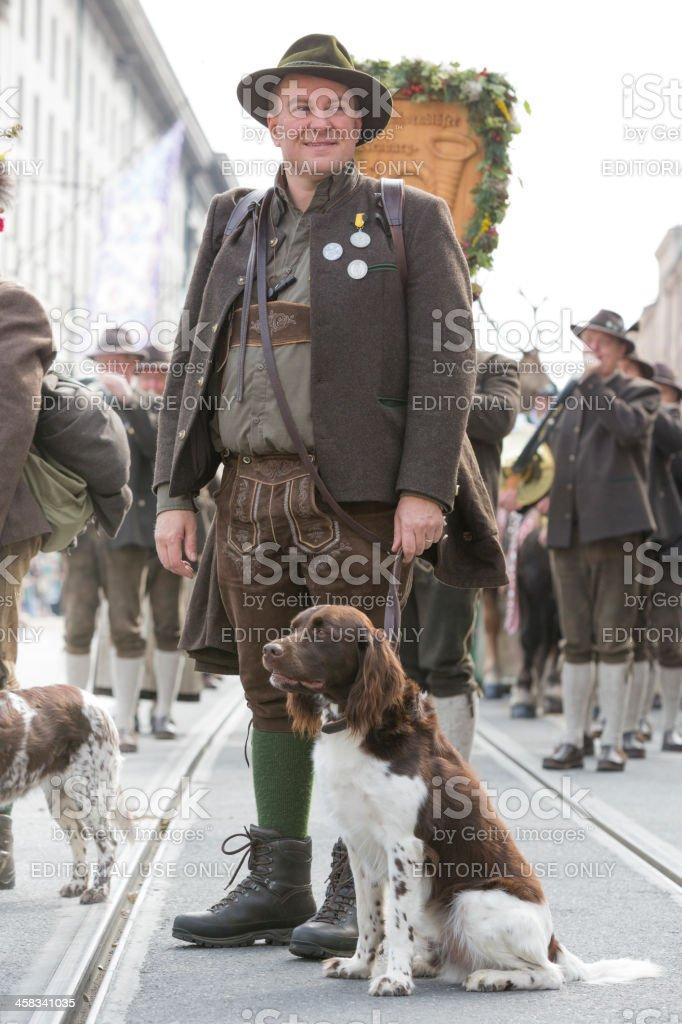 Oktoberfest - Traditional Costume and Riflemens parade through Munich stock photo