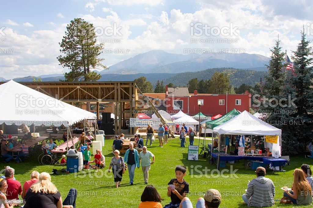 Oktoberfest Woodland Park 2014 stock photo