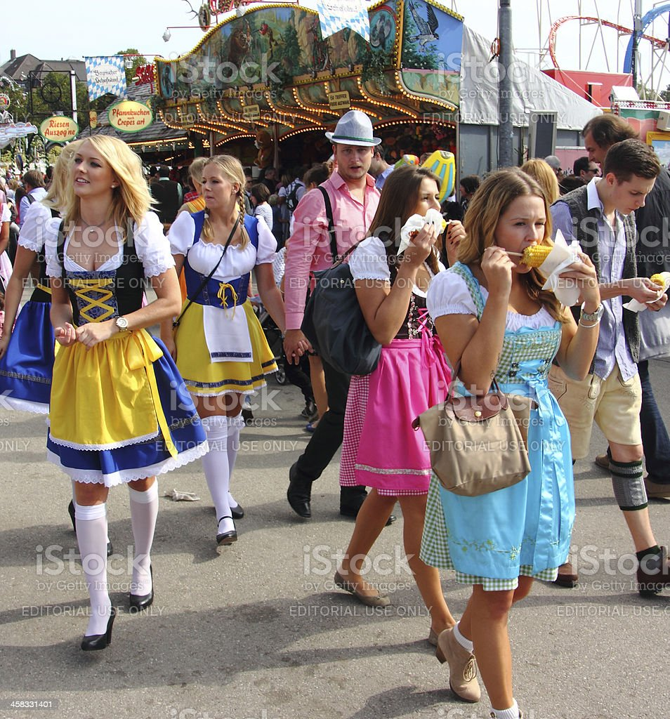 Oktoberfest: young people having fun stock photo