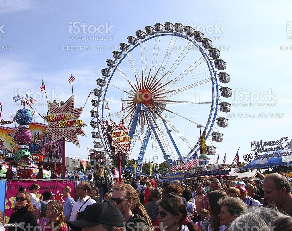 oktoberfest_giant ferris wheel stock photo