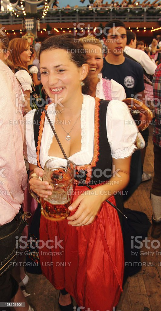 Oktoberfest_girl in the beer tent 2 stock photo