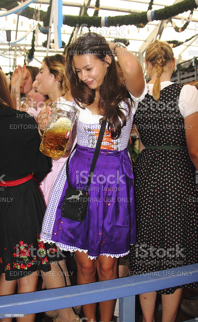 Oktoberfest_girl in the beer tent stock photo
