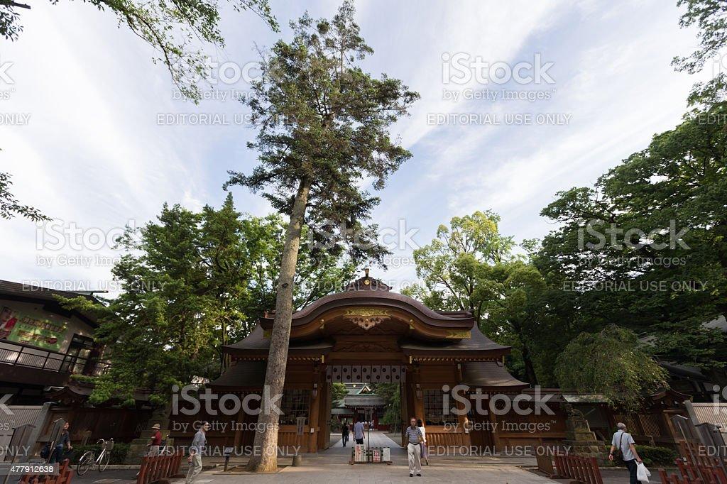 Okunitama Shrine in Fuchu, Tokyo, Japan stock photo