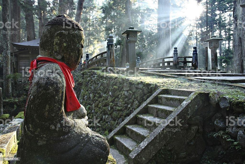 Okunoin Cemetery in Mount Koya stock photo