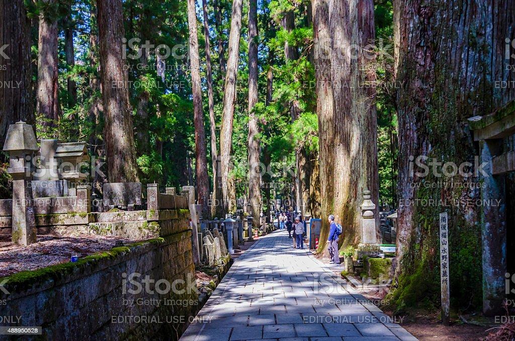 Okunoin - Wakayama, Japan royalty-free stock photo