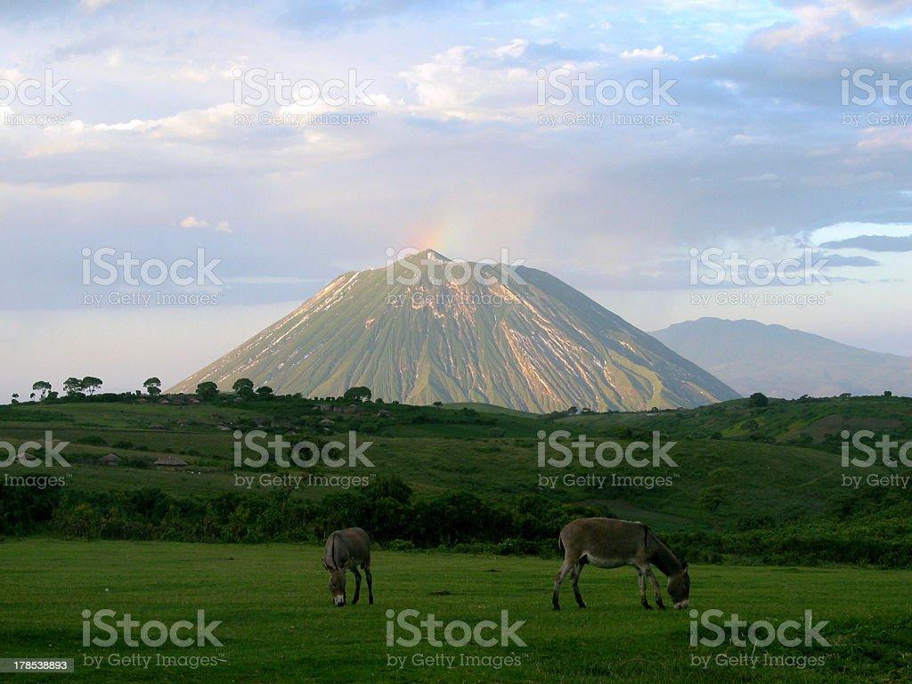 Ol Doinyo Lengai - Mountain of God (Tanzania) stock photo