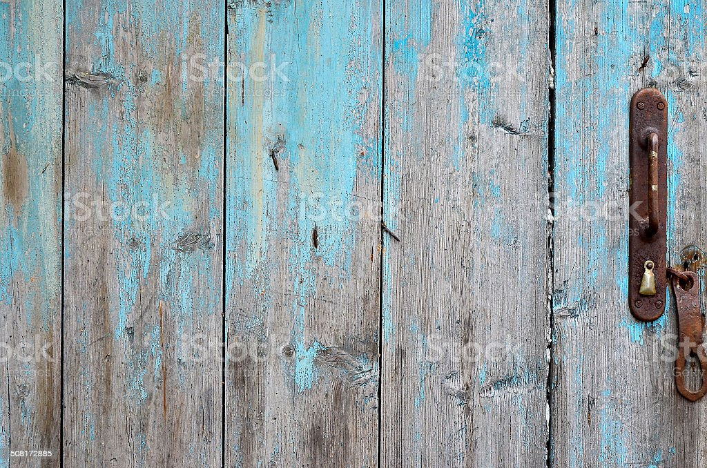 Ol wooden door. stock photo