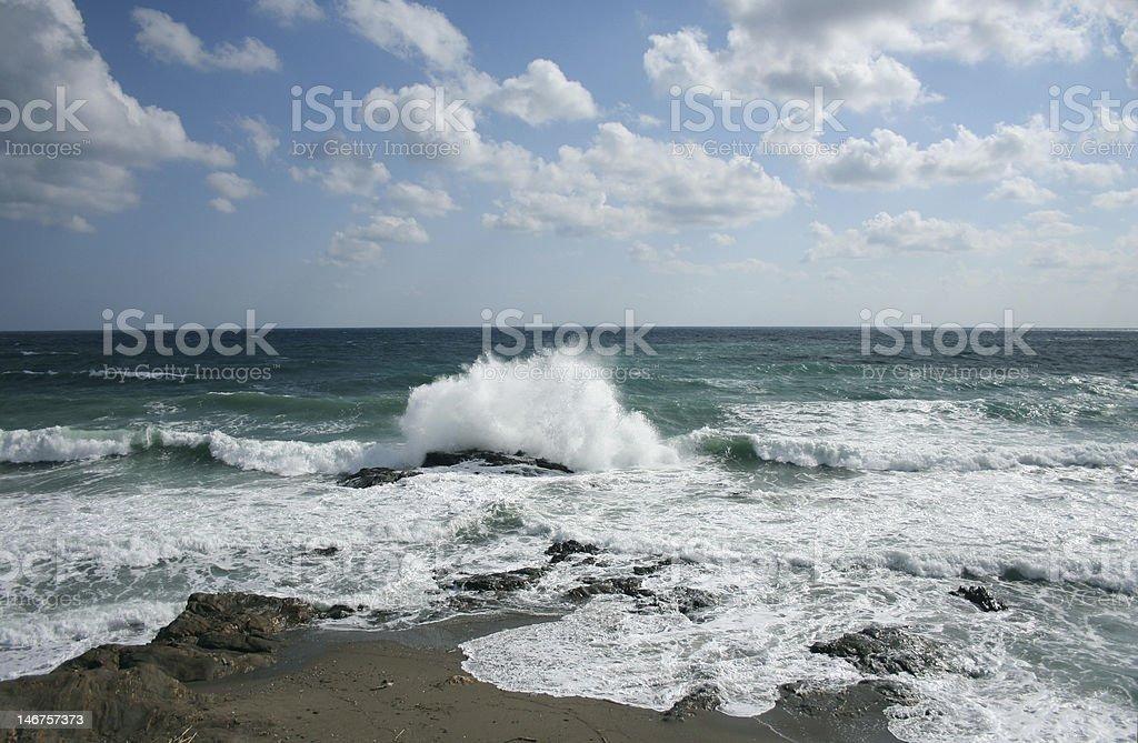 olas de mijas Lizenzfreies stock-foto
