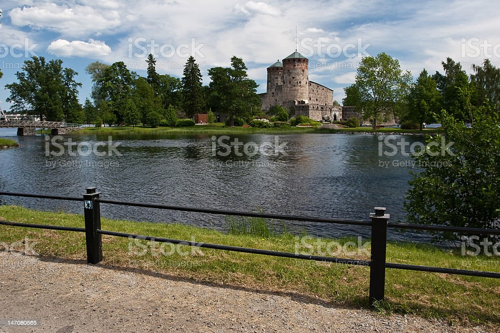 Olavinlinna fortress royalty-free stock photo