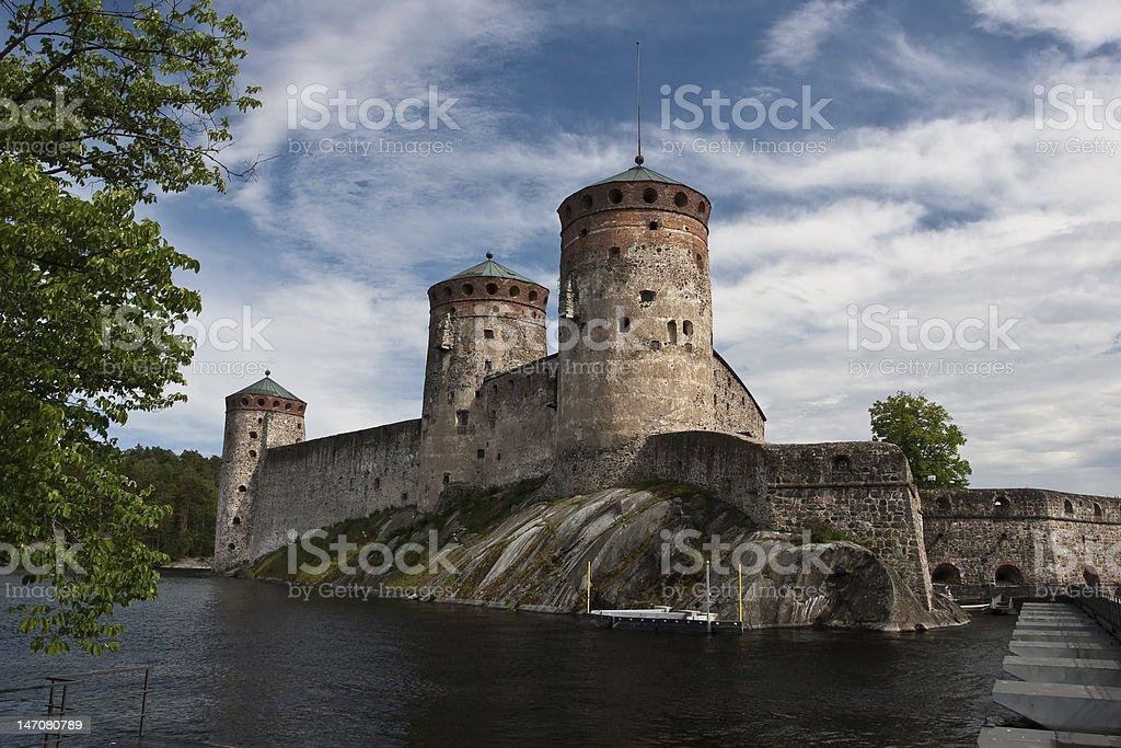 Olavinlinna fortress stock photo