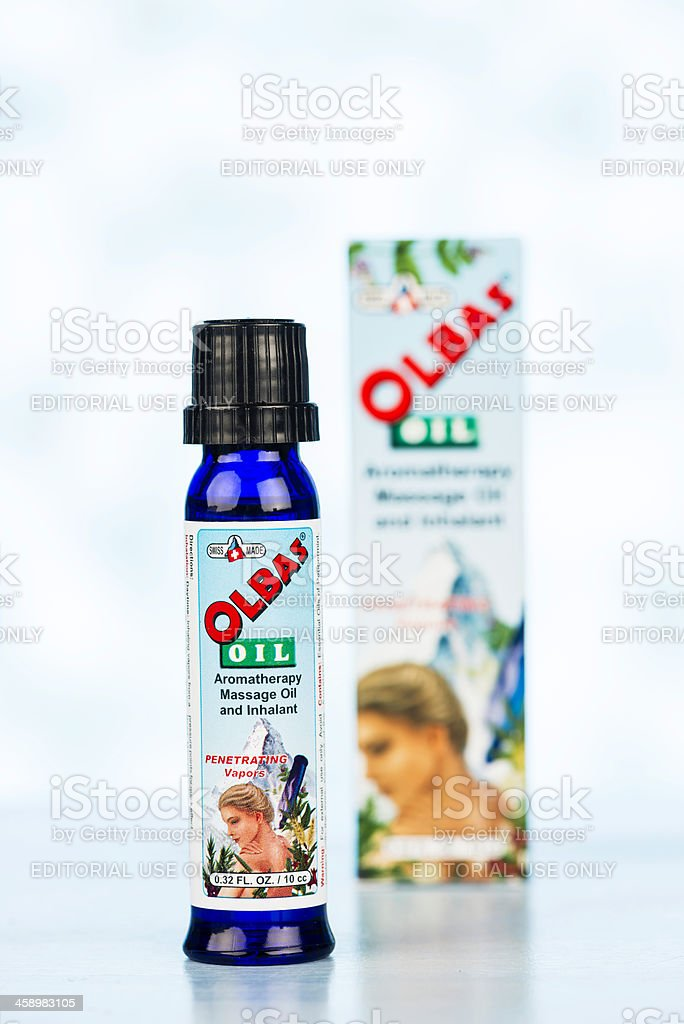 Olbas Oil and Packaging stock photo