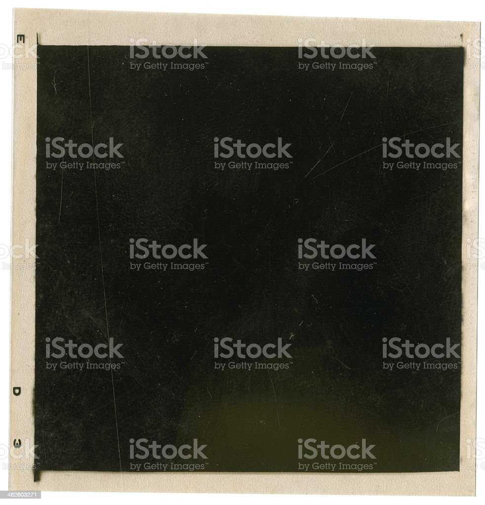 Old 120mm negative stock photo