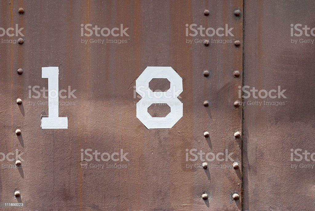 Old 18 royalty-free stock photo