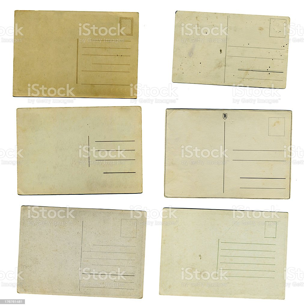 Old 1900s postcards royalty-free stock photo