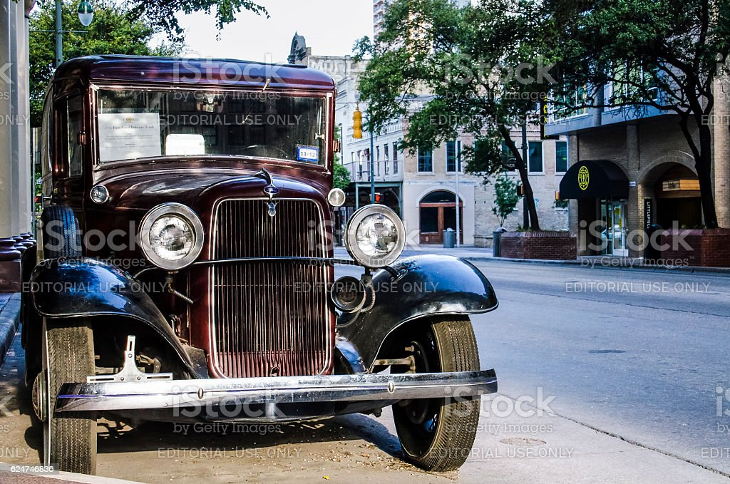 Old 1934 Ford Panel Delivery Truck stock photo