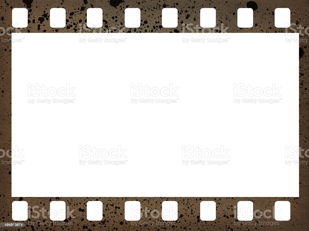 Old 35mm camera film strip stock photo