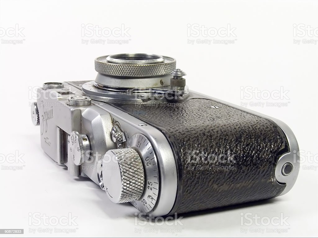 Old 35mm camera #3 royalty-free stock photo