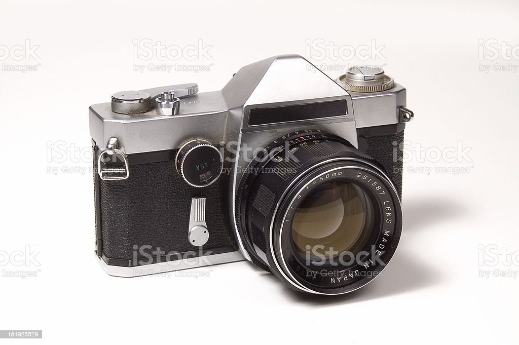 Old 35mm SLR Camera royalty-free stock photo