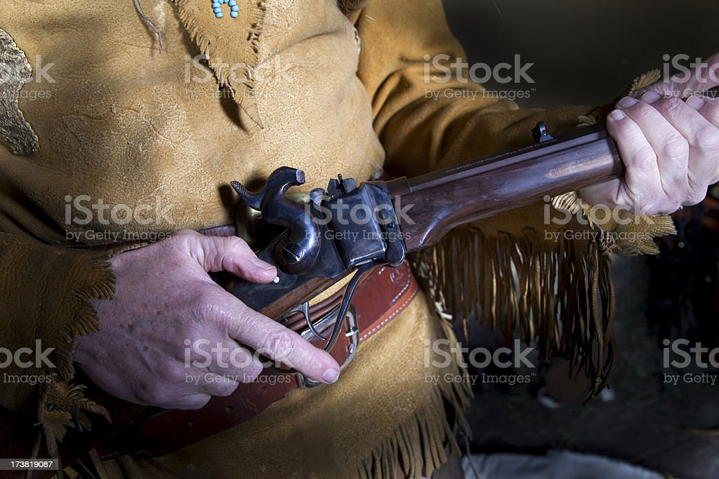 Old 45-70 Sharps Buffalo Rifle royalty-free stock photo