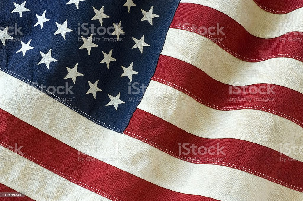 old 48 star american flag stock photo