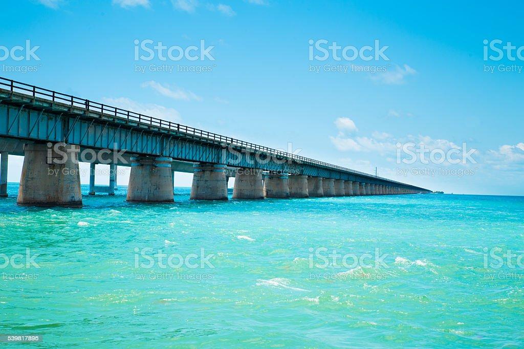 Old 7 Mile Bridge stock photo