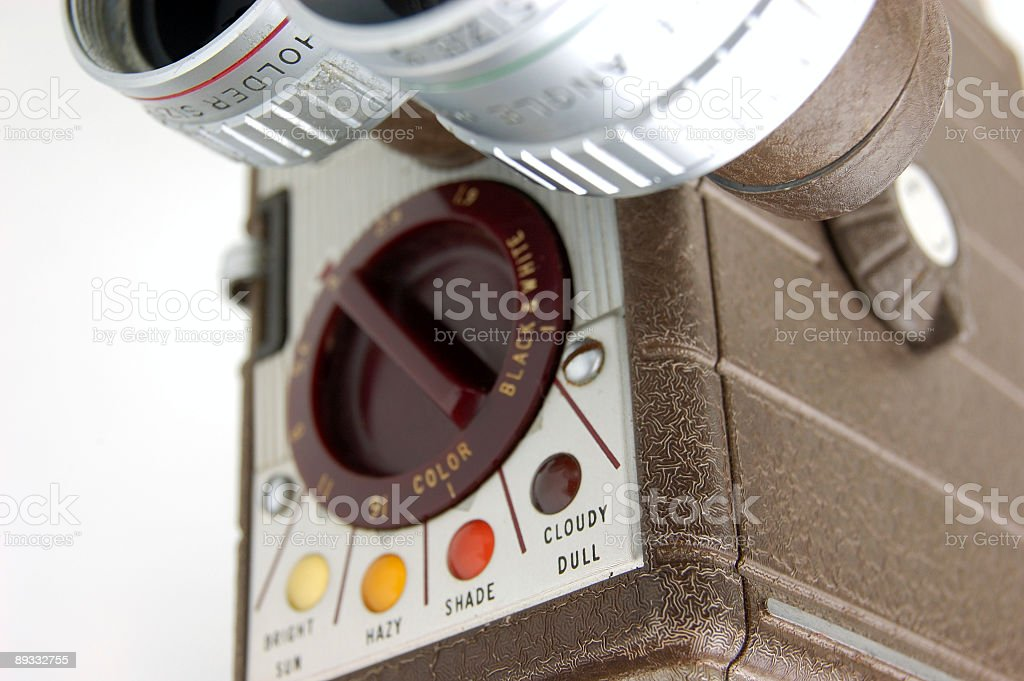 Old 8mm Camera Detail royalty-free stock photo