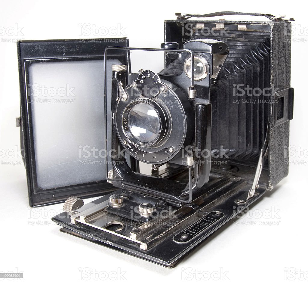 Old 9x12 camera royalty-free stock photo